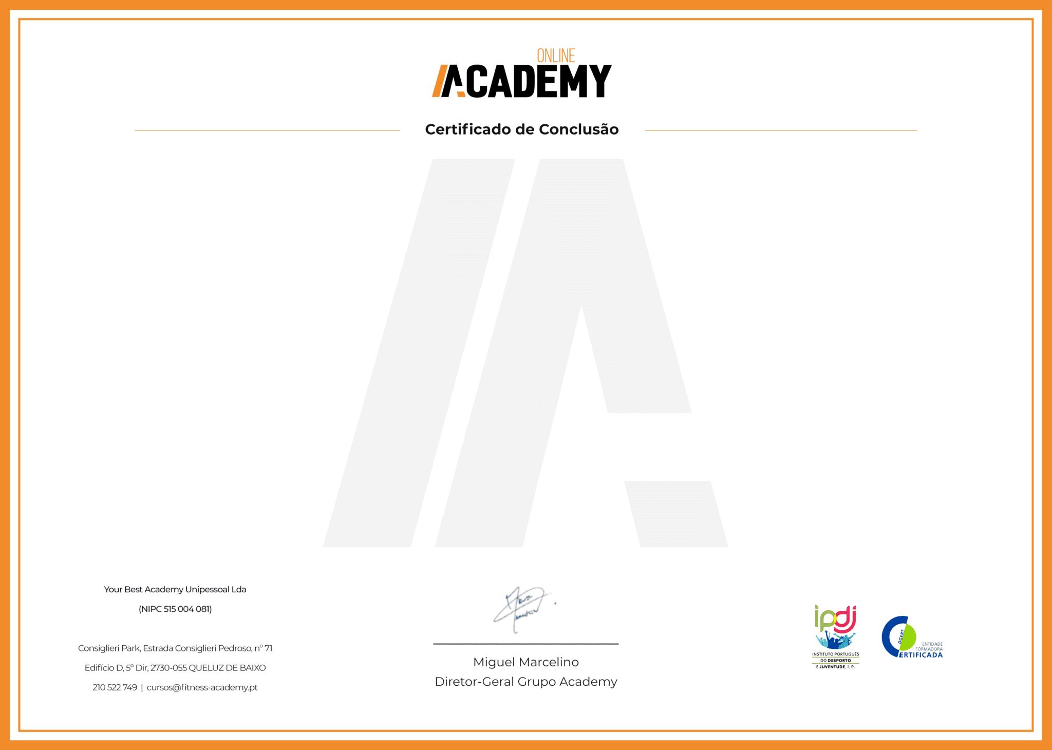 Visual Certificado Online Academy