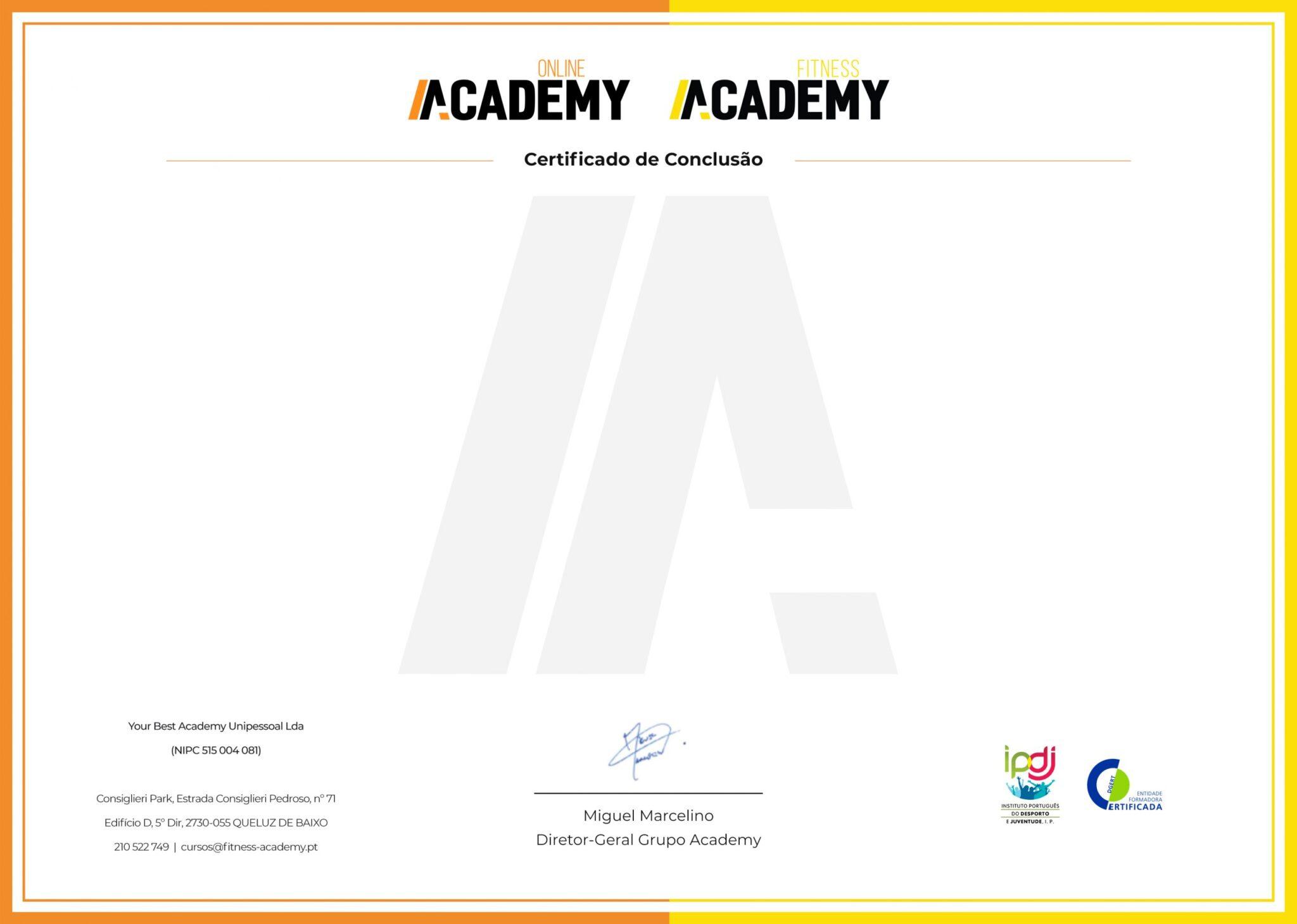 Visual Certificado Online Academy Fitness Academy scaled